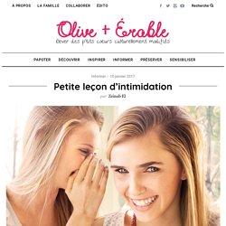 Petite leçon d'intimidation - Olive et Érable