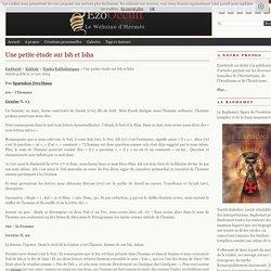 Une petite étude sur Ish et Isha « Etudes Kabbalistiques « Kabbale