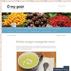 Petite soupe courgette-coco