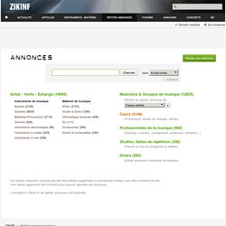 Zikinf - Annonces
