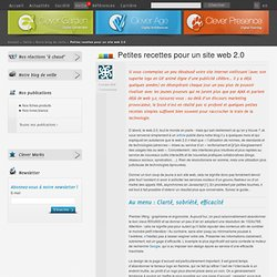 Petites recettes pour un site web 2.0 - Clever Link - Veille - C