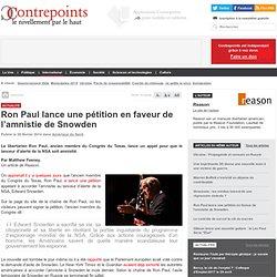 Ron Paul lance une pétition en faveur de l'amnistie de Snowden