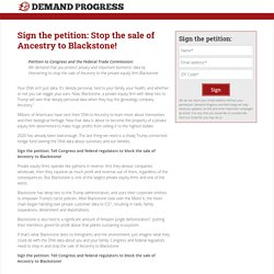 Sign the petition: Stop the sale of Ancestry to Blackstone!