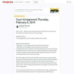 Court Arraignment Thursday, February 5, 2015