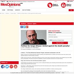 Pétition en faveur de Serge Atlaoui : tous contre la peine de mort !