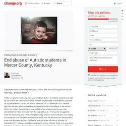 Human Rights Petition: End abuse of Autistic students in Mercer County, Kentucky