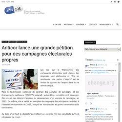 Anticor lance une grande pétition pour des campagnes électorales propres