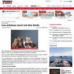 Une pétition pour le changement de statut des animaux