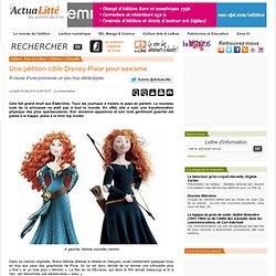 Une pétition cible Disney-Pixar pour sexisme