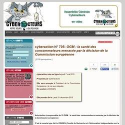 pétition cyberaction OGM, CRIIGEN