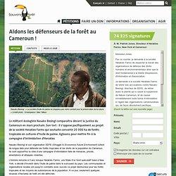 Aidons les défenseurs de la forêt au Cameroun !