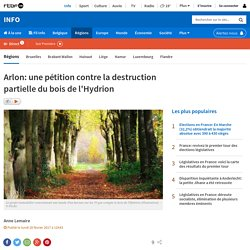 Arlon: une pétition contre la destruction partielle du bois de l'Hydrion
