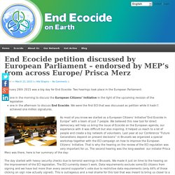 End Ecocide petition discussed by European Parliament