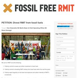 PETITION: Divest RMIT from fossil fuels