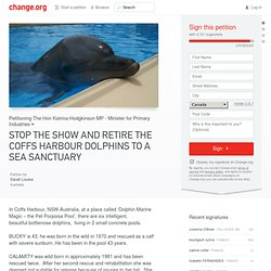 Pétition · STOP THE SHOW AND RETIRE THE COFFS HARBOUR DOLPHINS TO A SEA SANCTUARY · Change.org