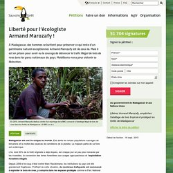 Liberté pour l'écologiste Armand Marozafy