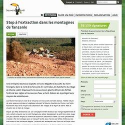Stop à l'extraction dans les montagnes de Tanzanie