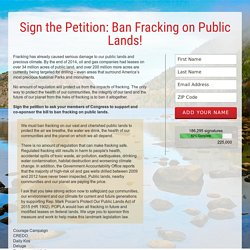 Sign the Petition: Ban Fracking on Public Lands!