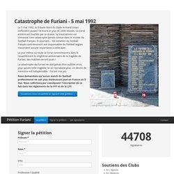 Petizione, pétition Furiani - Catastrophe du 5 mai 1992