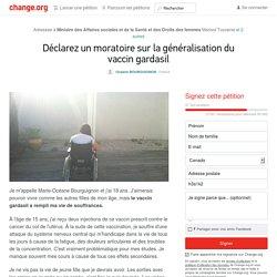 Marisol Touraine: stop à la généralisation du vaccin #gardasil
