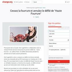 Karl Lagerfeld, Fendi: Cessez la fourrure