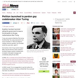 Petition launched to pardon gay codebreaker Alan Turing