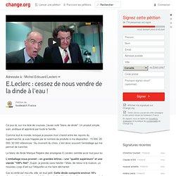 E.Leclerc : cessez de nous vendre de la dinde à l'eau