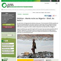 Pétition : Marée noire au Nigeria – Shell, du balai !