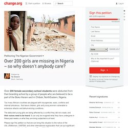 Over 200 girls are missing in Nigeria – so why doesn't anybody care?
