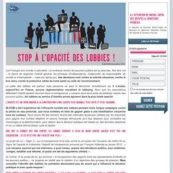 Signez la pétition de BLOOM : STOP à l'opacité des lobbies !