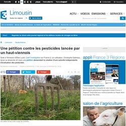 Une pétition contre les pesticides lancée par un haut-viennois - France 3 Limousin