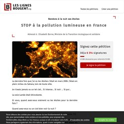 [Pétition] STOP à la pollution lumineuse en France