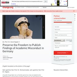 Preserve the Freedom to Publish Findings of Academic Misconduct in Germany