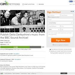 Publish Delia Derbyshire's music from the BBC Sound Archive!