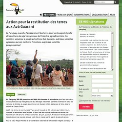 Action pour la restitution des terres aux Avá Guaraní
