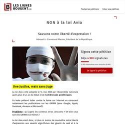 [Pétition] NON à la loi Avia - Sauvons notre liberté d'expression !