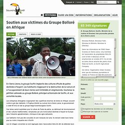 Soutien aux victimes du Groupe Bolloré en Afrique