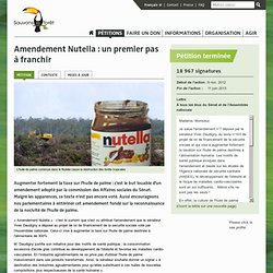 Amendement Nutella : un premier pas à franchir