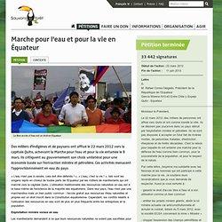 Soutenez la marche pour l'eau et pour la vie en Equateur