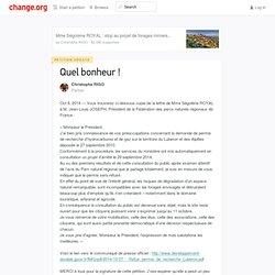 Mise à jour sur la pétition · Quel bonheur !