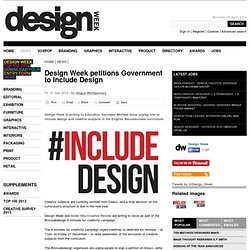 Design Week petitions Government to Include Design