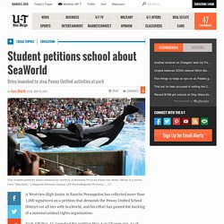 Student petitions school about SeaWorld