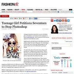 Teenage Girl Petitions Seventeen to Stop Photoshop