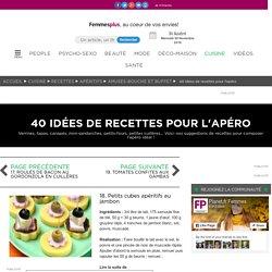 18. Petits cubes apéritifs au jambon : 40 idées de recettes pour l'apéro