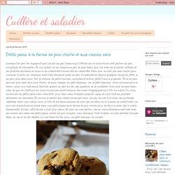 Cuillère et saladier: Petits pains à la farine de pois chiche et aux raisins secs