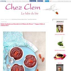 Petits Fondants au Chocolat et à l'Okara de Pécan ** Vegan, Paléo et Gluten-free !