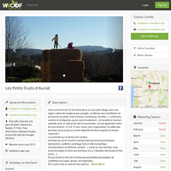 Les Petits Fruits d'Auriat — WWOOF France