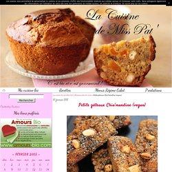 Petits gâteaux Chia'mandine (vegan) - La cuisine bio de Miss Pat'