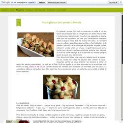 Petits gâteaux pour presse à biscuits