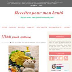 Petits pains oursons